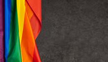 LGBT Pride Rainbow Flag. Black...