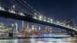 Manhattan Bridge and DUMBO New York City River Night Timelapse Video
