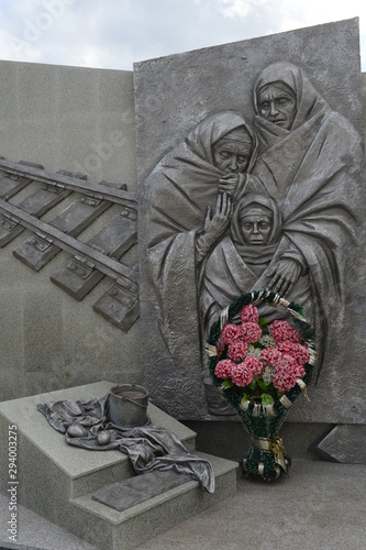 Monument to Leningraders who died during the evacuation from besieged Leningrad Wallpaper Mural