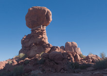 Balanced Rock Tower In Arches National Park