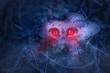 canvas print picture - Der Halloween Pilz