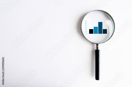 lente di ingrandimento, analizzare, investimento, economia, finanza Wallpaper Mural