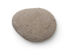 Top View Of Single Gray Pebble