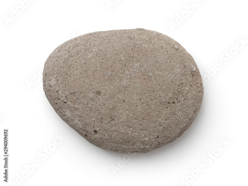 Fotografie, Obraz Top view of single gray pebble