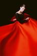 canvas print picture - feminine beauty in dance