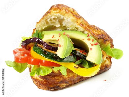 Fototapeta  Brötchen mit Gemüse und Avocado