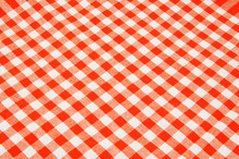 Red And White Tablecloth Backg...