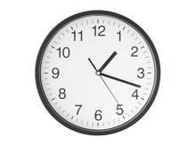 Round Clock Isolated On White ...