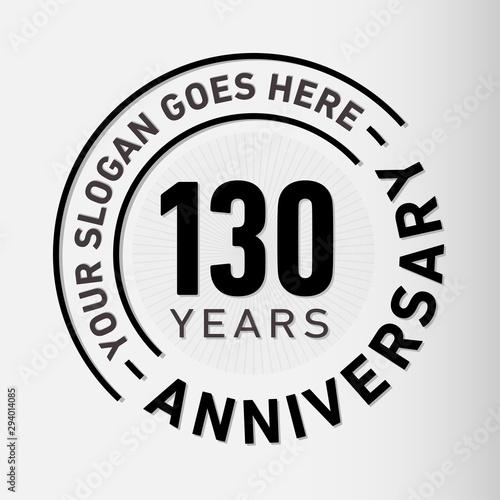 Fotografía 130 years anniversary logo template