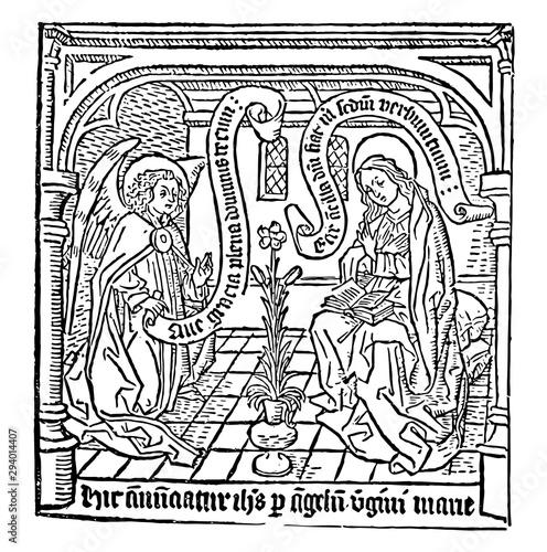 Photo The Annunciation, vintage illustration