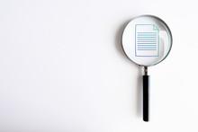 Lente Di Ingrandimento, Analizzare, Documento, Notaio
