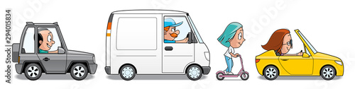 Cartoon voitures Group of vehicles