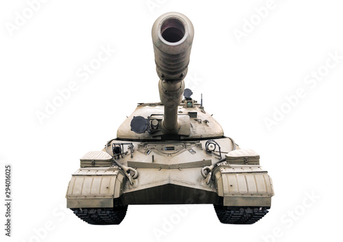 tank T 10 on white
