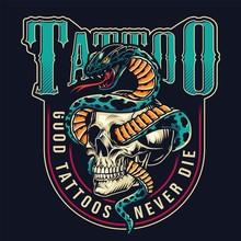 Vintage Tattoo Studio Colorful...