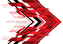 Abstract Red Black Arrow Geome...