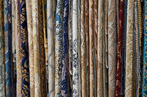 Foto auf AluDibond Huhn Image of various furniture fabrics.