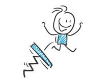 Stickman Blue: Advantage, Doping, Springboard. (Nr. 101)