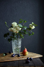 Still Life With White Roses An...