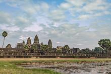 Angkor Wat Temple At The Dawn,...