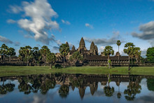 Angkor Wat Temple At The Dawn, Unesco World Heritage, Siem Reap, Cambodia
