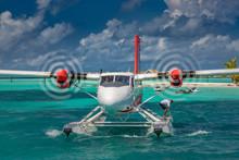 Exotic Scene With Seaplane On ...