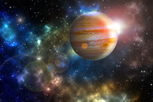 """Jupiter """"Elements Of This Image Furnished By NASA"""""""