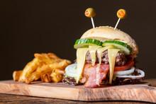 Monster Burger For Halloween