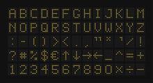 Electronic Scoreboard. Alphabe...