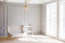 Elegant Soft Arm-chair Near A ...