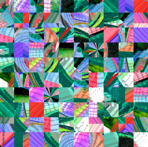 Fotomural  Abstract colored pattern. Digital art