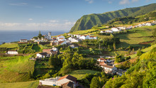 View Of Pedreira Village At Northeast Coast Of Sao Miguel Island, Azores, Portugal
