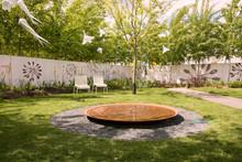 Corten Waterbasin In The Park