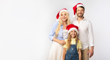 Family Of Three In Christmas S...