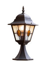 Garden Lamp Isolated On White ...