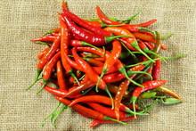Ripe Red Hot Chili Pepper Iso...