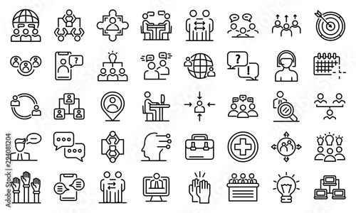 Canvas Print Advice icons set