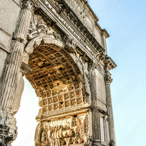 Triumphal Arch of Titus on the Via Sacra of the Roman Forum Tablou Canvas