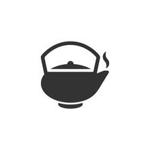 Tea Pot Icon Isoalated On Whit...