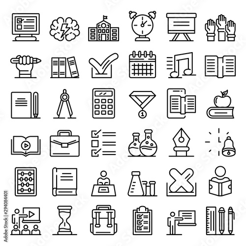 Fotografía Lesson icons set
