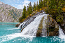 Tracy Arm Fjord Waterfall In A...