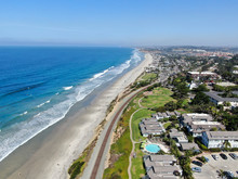 Aerial View Of Del Mar Coastli...