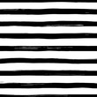 Vector seamles striped pattern. Hand drawn grunge black and white stripes.