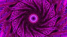 Beautiful Pink Vortex Of Geome...