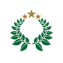 Wreath Crest Vector Logo Template Illustration Design. Vector EPS 10.