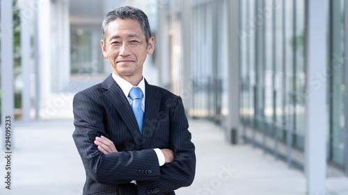 シニア ビジネスマン Billede på lærred
