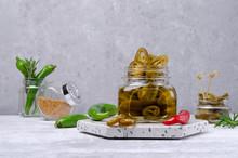 Slices Of Green Pickled Pepper