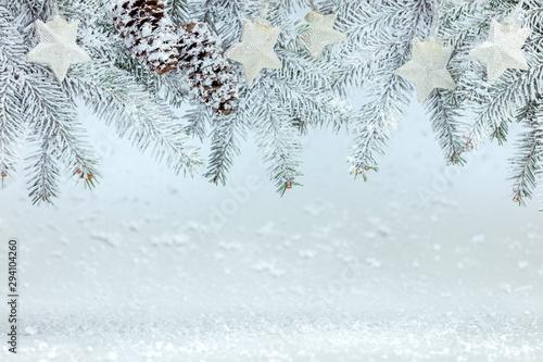 Fotografía  frosty winter white background