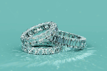 Tree diamond eternity rings...