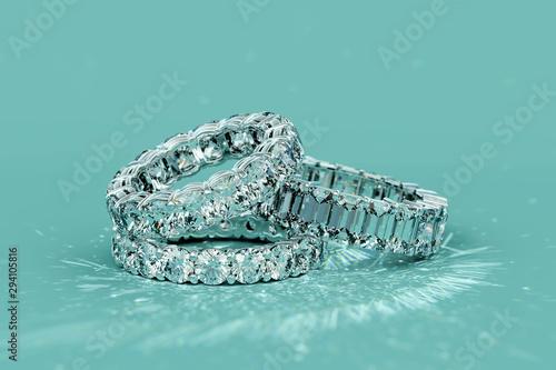 Tree diamond eternity rings...