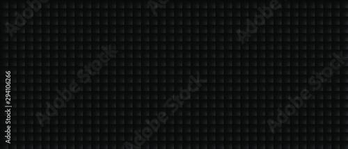 Fotografiet  Dark black Geometric grid background Modern dark abstract vector texture